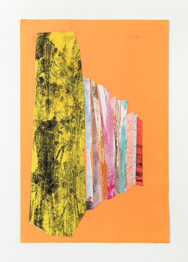 mixtes sur papier fluo, 30x20cm